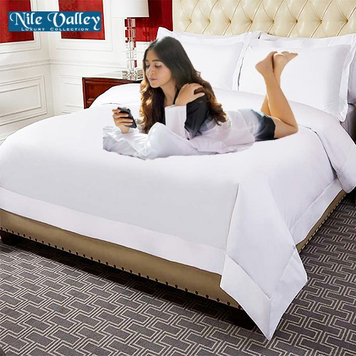 Nile Valley 1000tc 5 Star Hotel, 1000 Thread Count Cotton Queen Bed Sheets