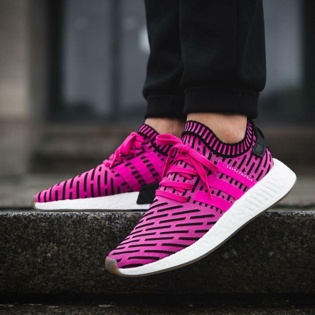 Adidas NMD R2 PK Shock Pink Japan, Men's Fashion, Footwear
