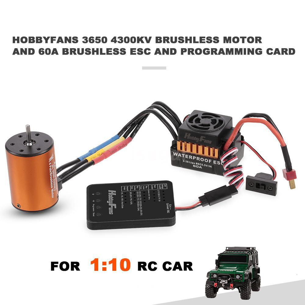 🔥🔥I&S HOBBYFANS 3650 4300KV 4P Brushless Motor 60A 2-3s ESC Programming  Card f