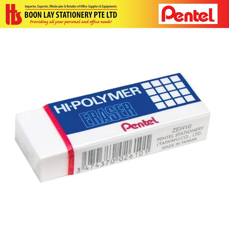 Hi-Polymer Eraser Pack of 5 Pentel Large ZEH10