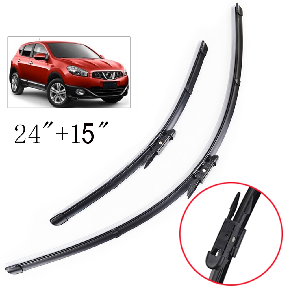 2Pcs Front Windscreen Wiper Blades Set For Nissan Qashqai 56 57 58 60 J10 07 13