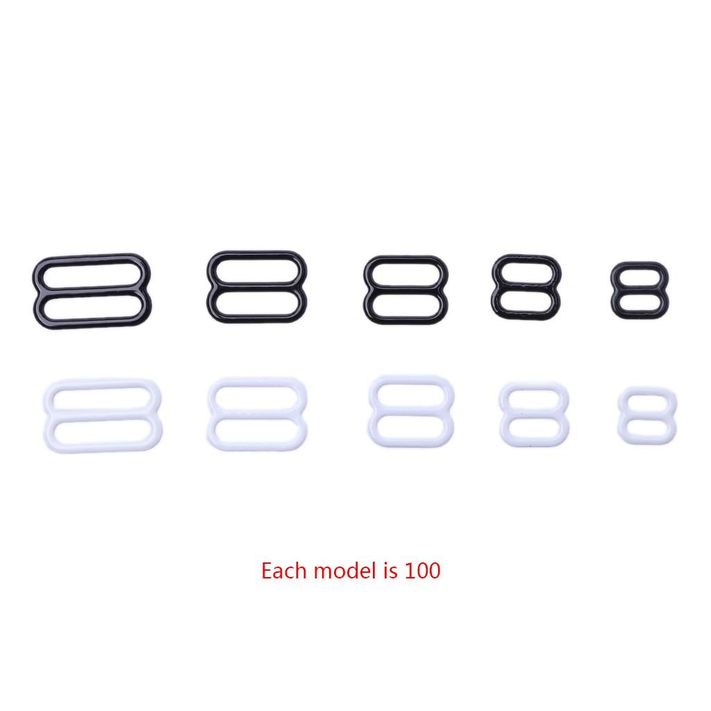100x Metal White 18mm Bra Strap Adjustment O Rings Buckle Lingerie Fastener