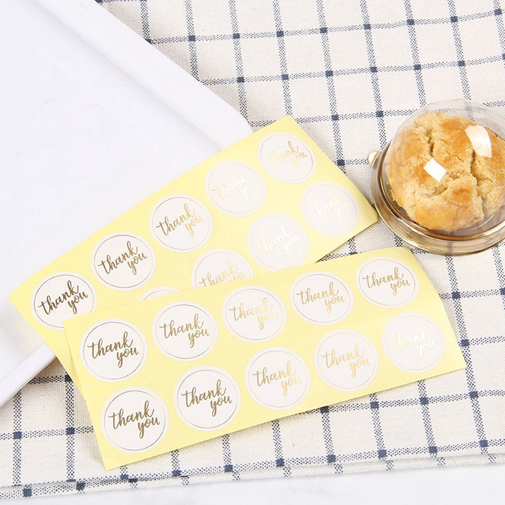 Golden THANK YOU*Oval Stickers Labels Sealing Wedding Party Favors 24pcs HB$