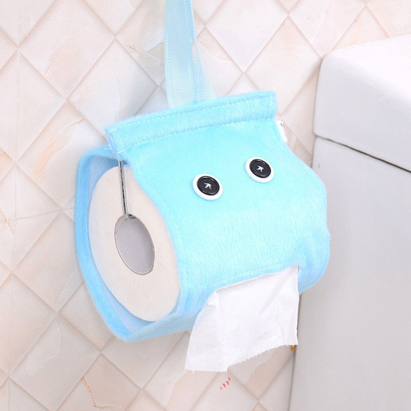 Roll Paper Plush Cloth Tissue Case Toilet Hanging Tissue Canister Box Holder Shopee Singapore
