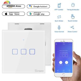 ❤ SONOFF The WiFi smart switches with 3 gangs are divided into T1(EU & UK  ), 【HL】