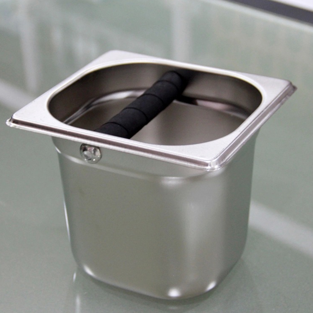 Coffee Knock Box Kitchen Tool Deep Design Stainless Steel Bin Container Tray