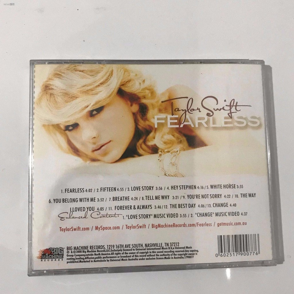 Album Cd Taylor Swift Fearless Cd Shopee Singapore