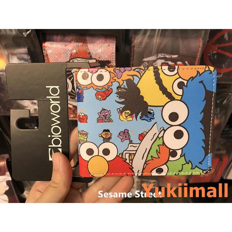 Cartoon Anime Sesame Street Wallet Folding Wallet Emo Cookie Strange ELMO  Studen