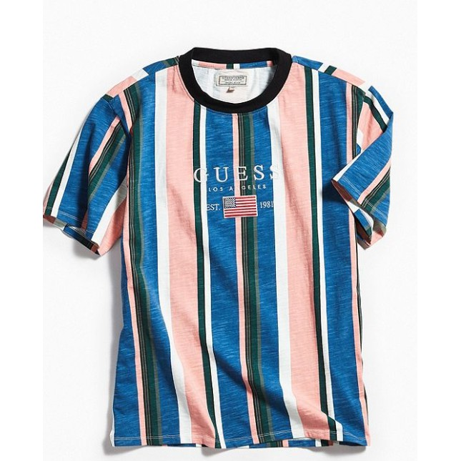 GUESS David Sayer Stripe Tee Shirt   Shopee