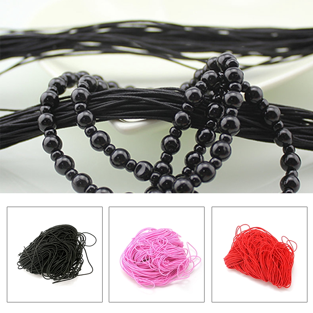 50 Meter Black Solid Rubber Plastic Jewelry Cord String for Pendants 1mm