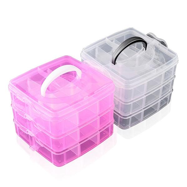 Nail Art Decor Storage Box Plastic