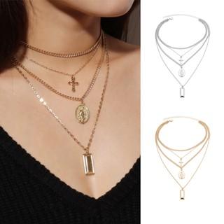 661 Sparkling diamanté triple row adjustable choker necklace fashion jewellery