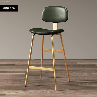 The Nordic Home Leisure Chair Barstool Modern Light Excessive Cafe Bar Stool Wrought Iron High Shopee Singapore