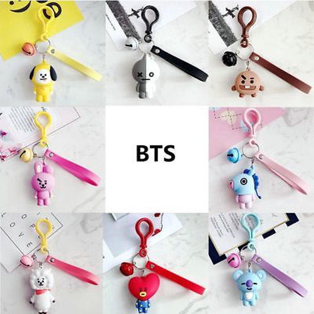 TATA COOKY SHOOKY Pendant Key Chain HOT Kpop BTS BT21 Cartoon Car Key Chain