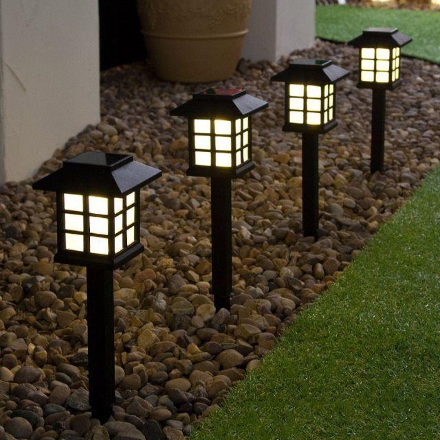 2pcs Lampu Taman Solar Lamp Led Cottage Garden Pathway Landscape Decoration Shopee Singapore