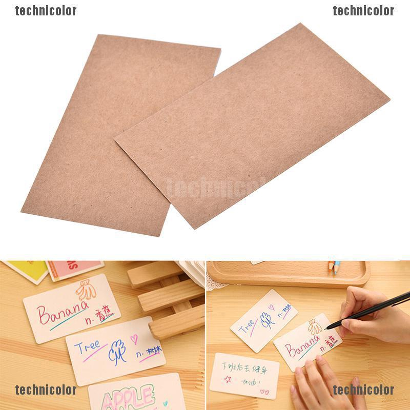 100pcs Blank Trading Business Wood Cards Label Tag Name Card 90 X 53mm Diy