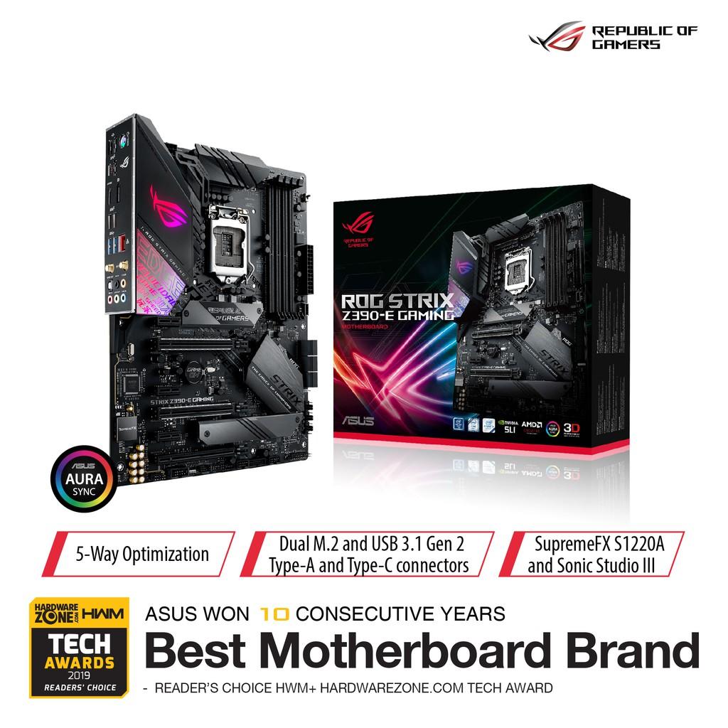 Asus Rog Strix Z390 E Gaming Intel Z390 Lga 1151 Atx Gaming Motherboard Shopee Singapore