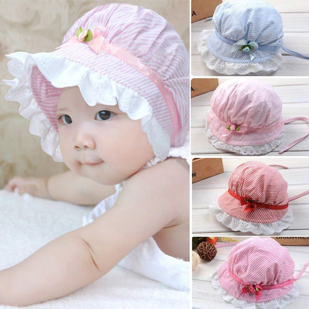 Fashion Straw Hat for Kids Cute Flowers Inlay Hat Baby Girl Flanging Cap Sun Hat