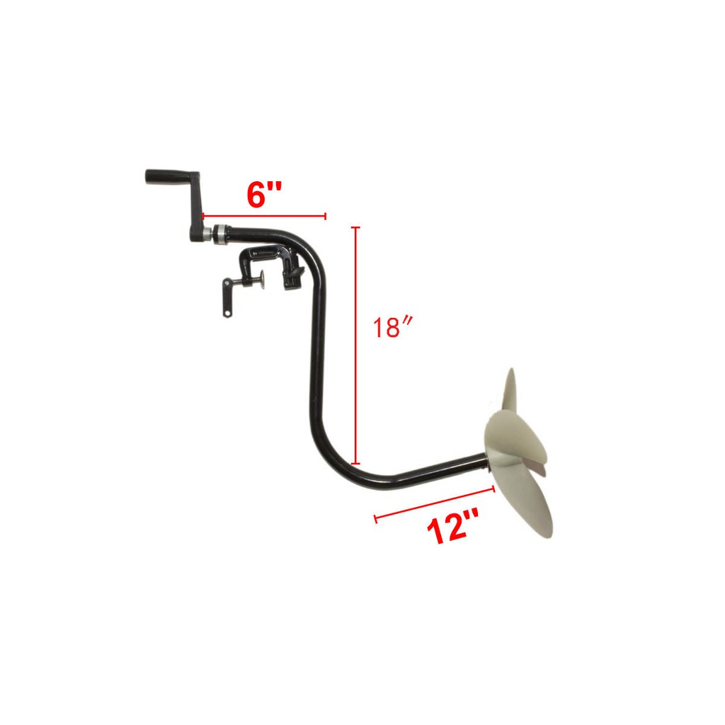 HAND OPERATED OUTBOARD MOTOR INFLATABLE BOAT TROLLING MOTOR BOAT PROPELLER