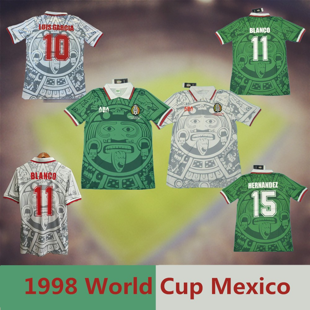 71041d2a802 Top Quality 1998 World Cup Mexico Shirt Retro Soccer Football Jersey |  Shopee Singapore