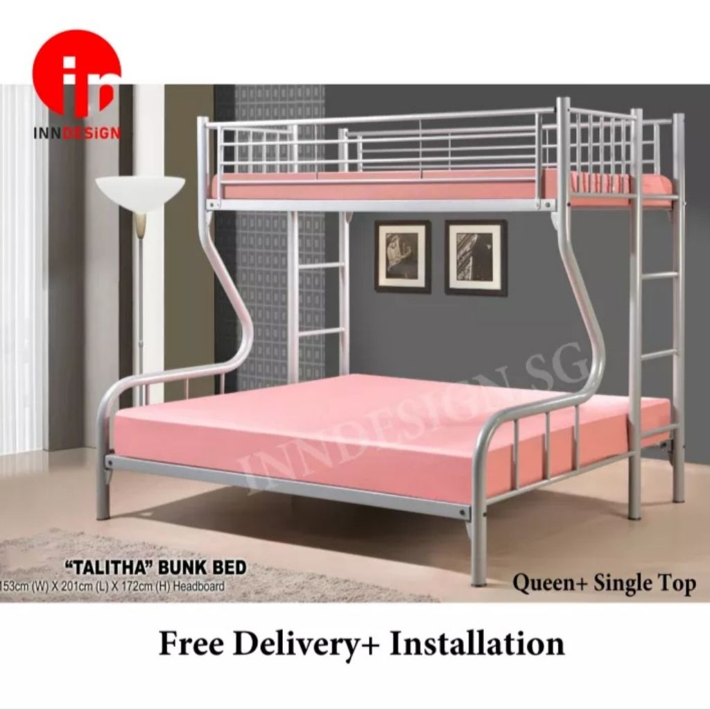 Picture of: Talitha Single Queen Bunk Bed Shopee Singapore
