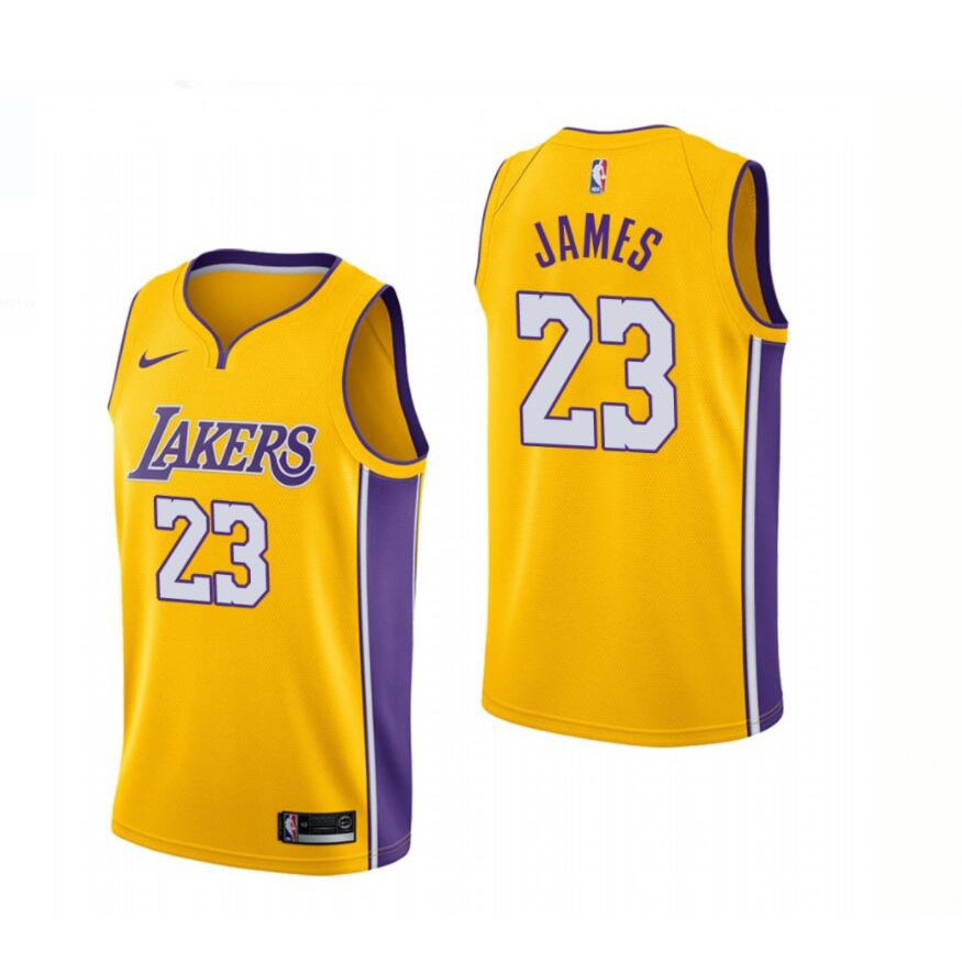 wholesale dealer e0bb1 3ff00 2018 Los Angeles 23 LeBron James Men Lakers Basketball Jerseys Wish  Embroidery