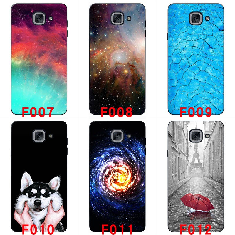 For Samsung Galaxy J7 Max G615F Soft silicon phone cases Painted back cover