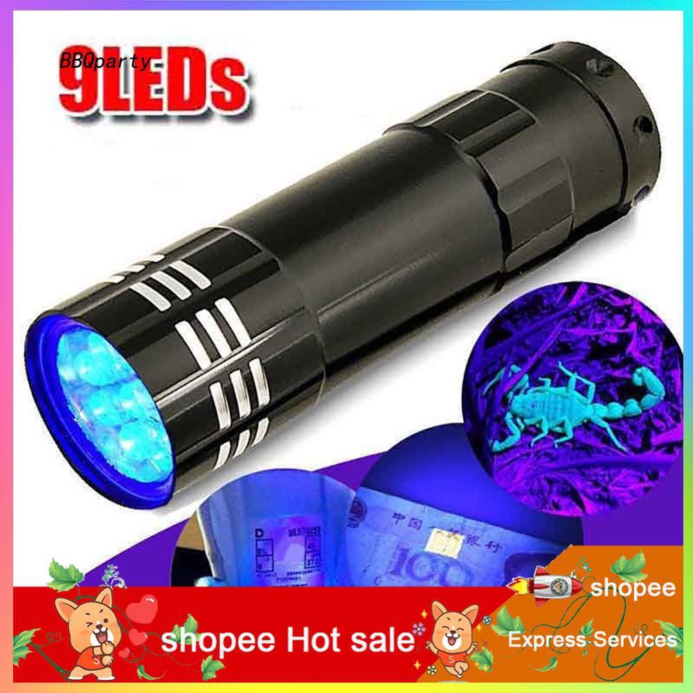 Mini portable ultra violet UV light lamp torch with LED flashlight HU