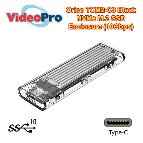 Orico TCM2-C3 Black Aluminium M 2 Transparent 10Gbps SSD Enclosure