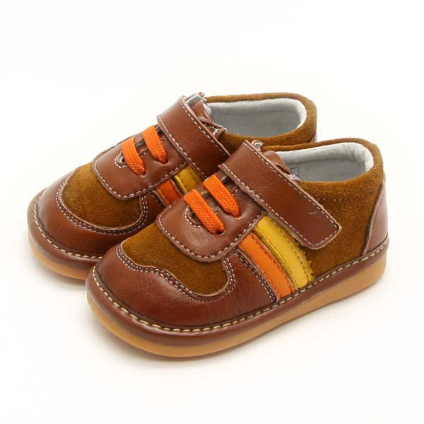 Freycoo - Brown Gideon Squeaky Toddler Shoes