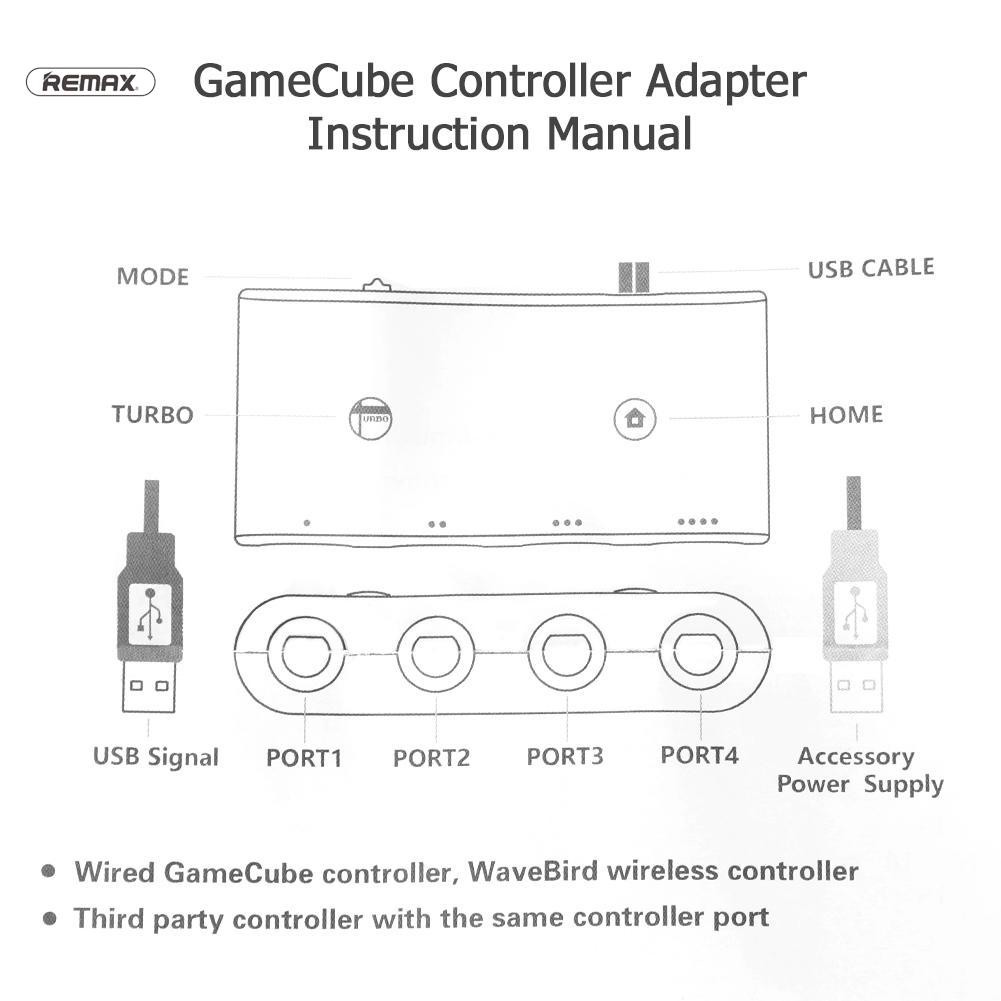 4 Ports for GC GameCube to for Wii U PC Switch Controller ... on
