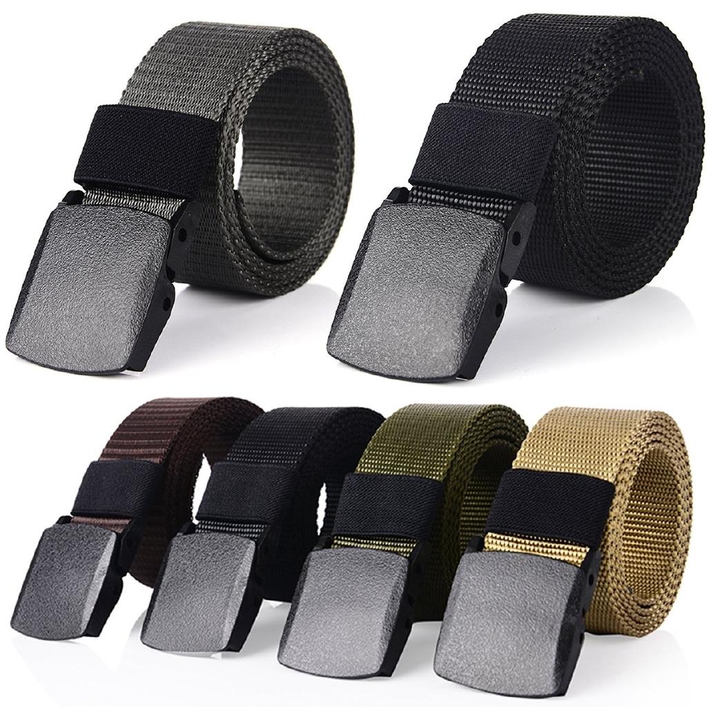 Mens Casual Military Grade Polymer Buckle Nylon Belt Automatic Buckle Nylon Belt