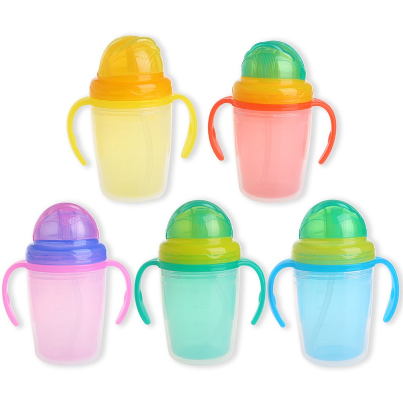 Children Kids Baby Infant Sip Milk Cup with Built in Straw Mug Drink Home Colors | Shopee Singapore