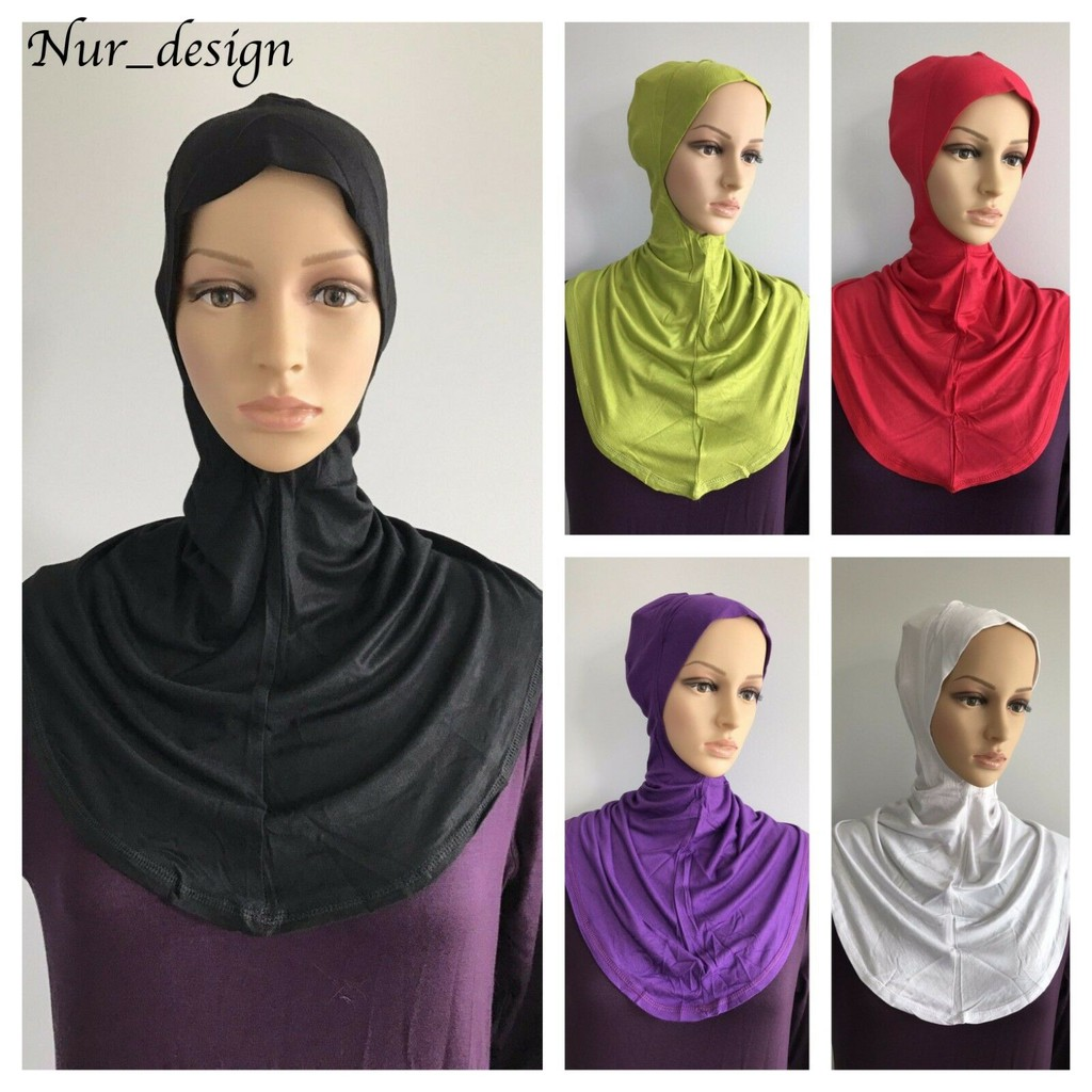 MAXI COTTON JERSEY Neck/&Chest  Full Cover Ninja Style Under Scarf Long hijab