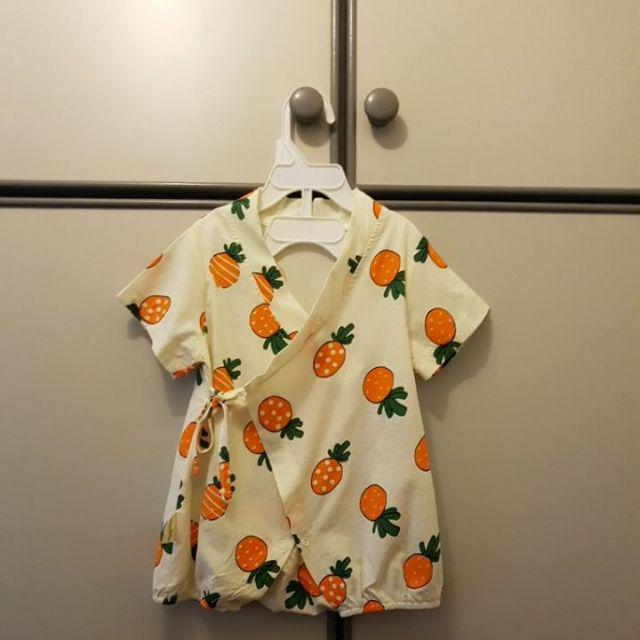 Newborn Boys Girls Short Sleeve Kimono Rompers Toddler