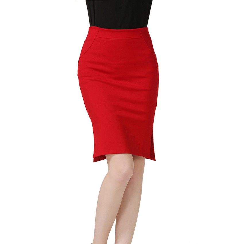 67498248f49 Women Pencil Skirt High Waist Plus Size Package Hip Skirt