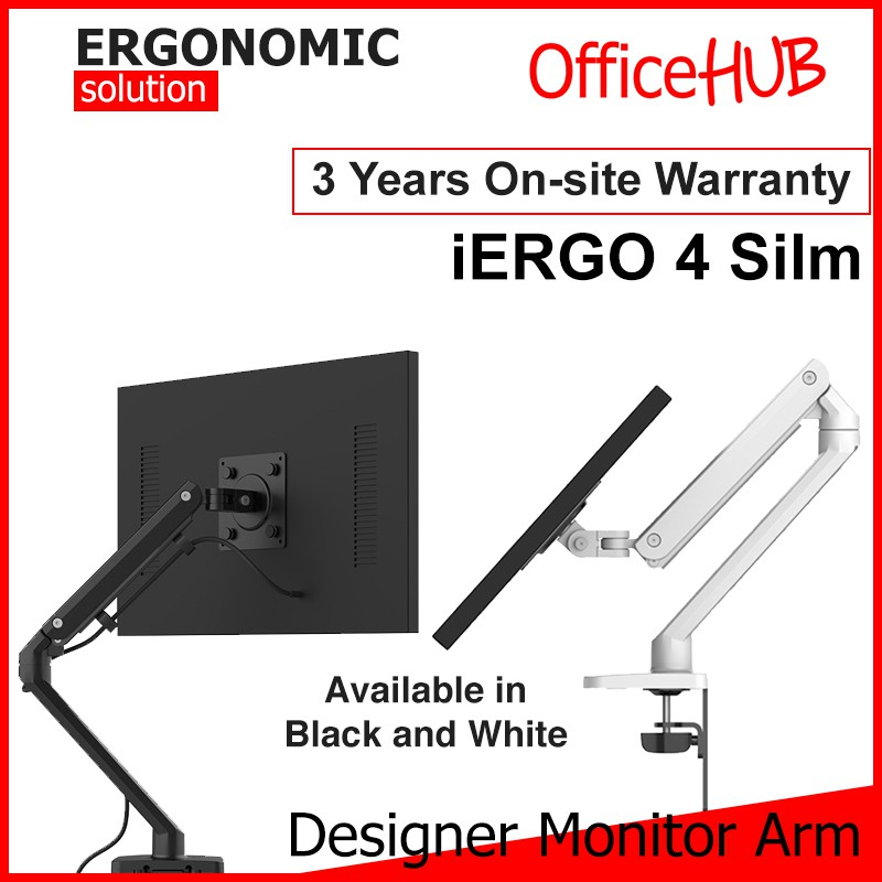 OFFICEHUB iErgo 4 Silm SINGLE Computer Monitor Arm ☆ Monitor Stand ☆  Monitor Mount ☆ Fits Monitor 34 Inch per arm | Shopee Singapore