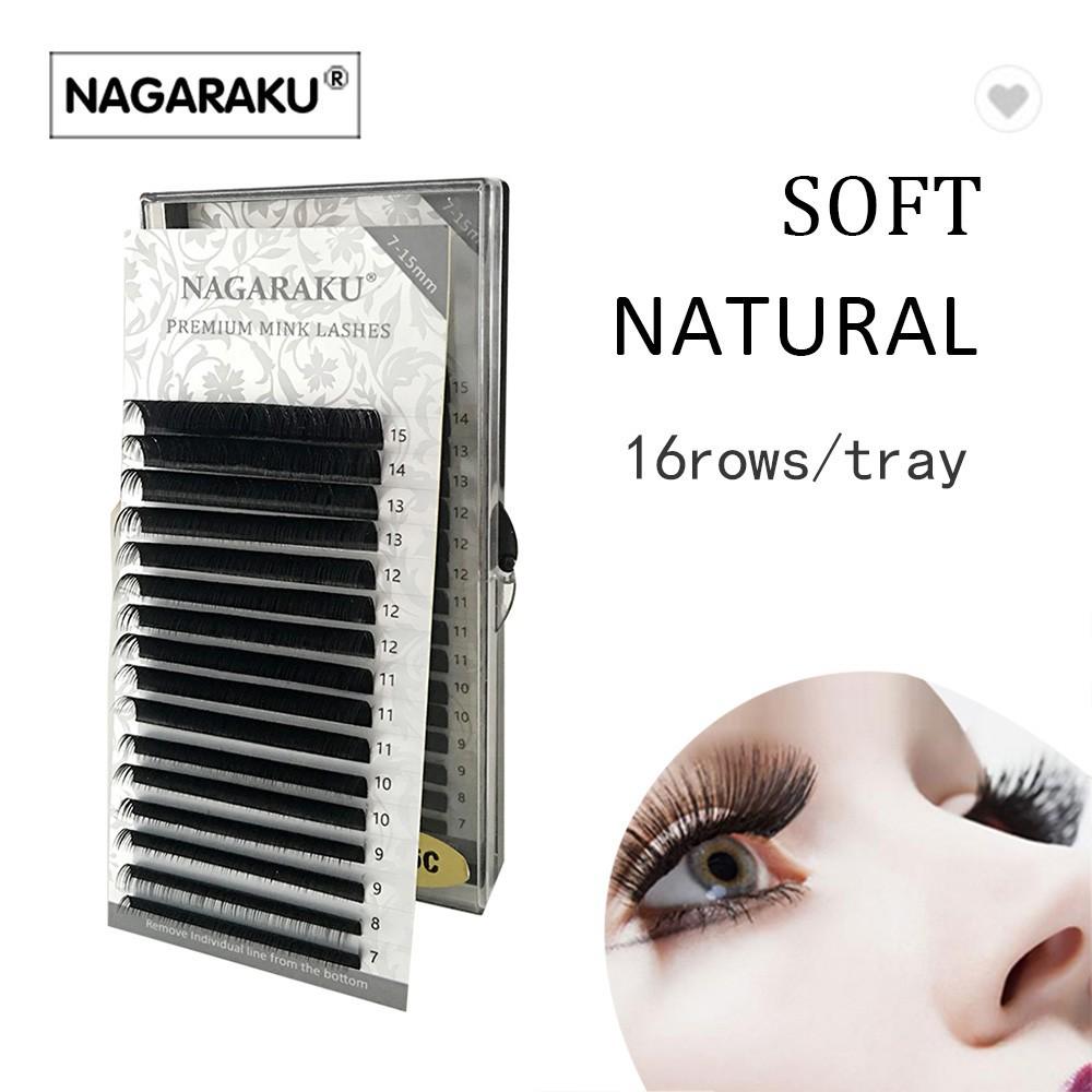 ef45085c6a8 NAGARAKU 5 cases,Mix 8~15mm in one case,Ellipse Eyelashes | Shopee Singapore