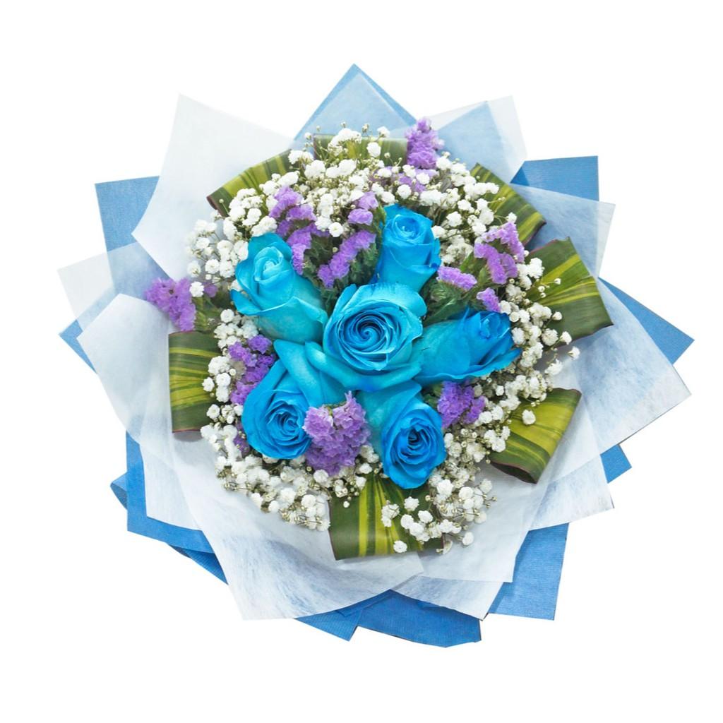 Tiffany Blue Fresh Rose Flower Bouquet Shopee Singapore