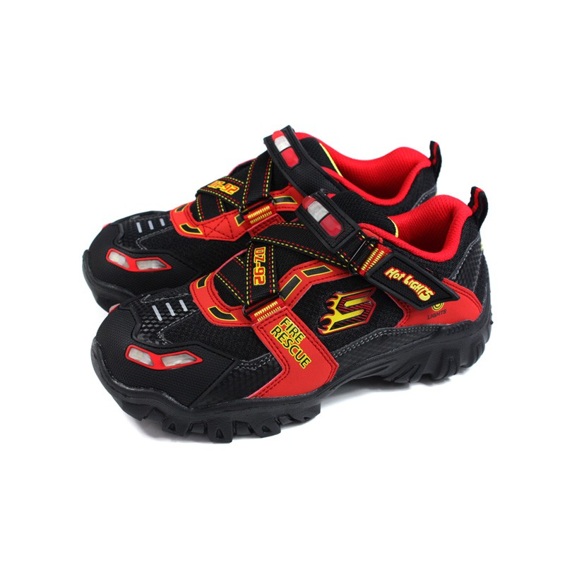 horizonte Autocomplacencia Estricto  Skechers Hot Lights Sneakers Light Shoes Children's Shoes Devil Felt Black  / Red 400019lbkrd No244 | Shopee Singapore