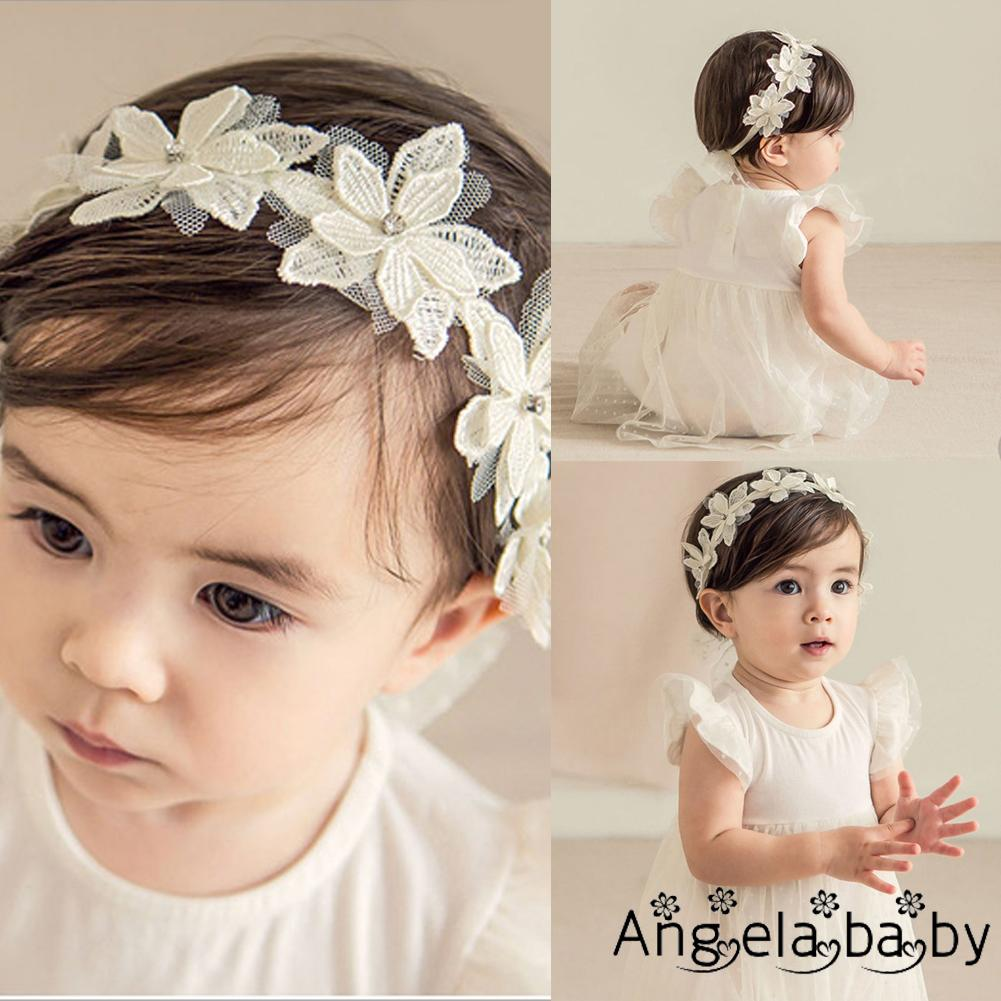 Baby Toddler Infant Lace Flower Hair Bow Fashion Headband Band Headwear b