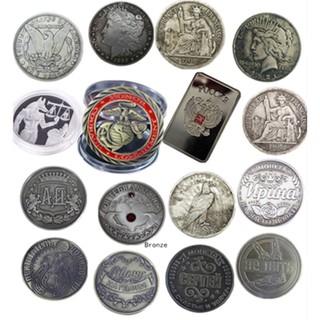 Various Antique Silver Bronze Commemorative Collection