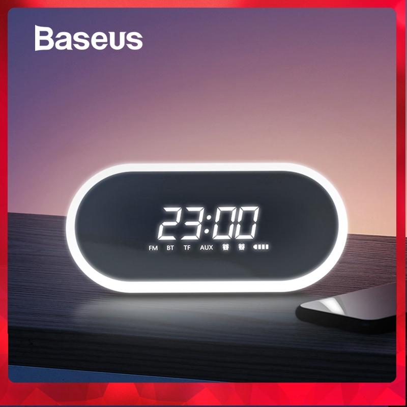 Baseus Night light Bluetooth Speaker With Alarm Clock Function ,Portable  Wireless Loudspeaker Sound System
