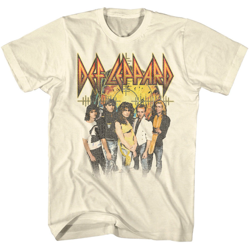 Officially Licensed Def Leppard Distressed Logo Urban Slim Fit Women T-Shirt