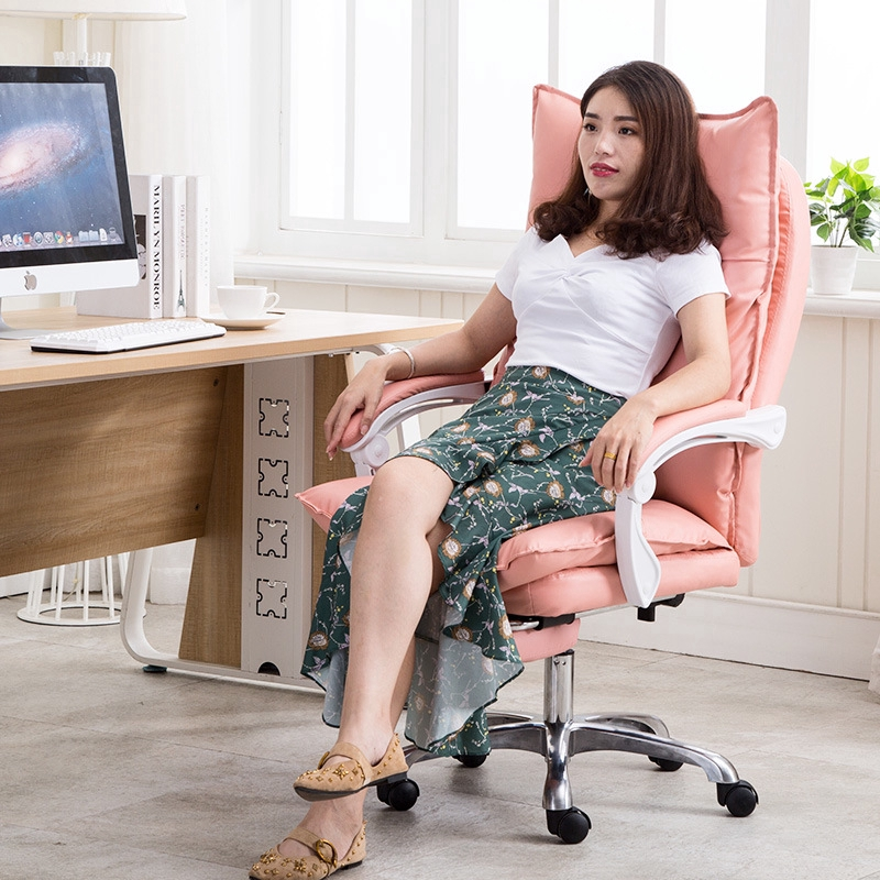 Office Chair Computer Chair Home Game Back In His Office Chair Cute Pink Yy Anchor Live A Comfortable Chair Stool Shopee Singapore
