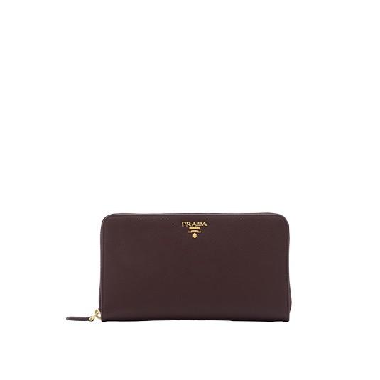 09c64220a1752 Prada Saffiano Metal Zip Around Wallet (Granato)