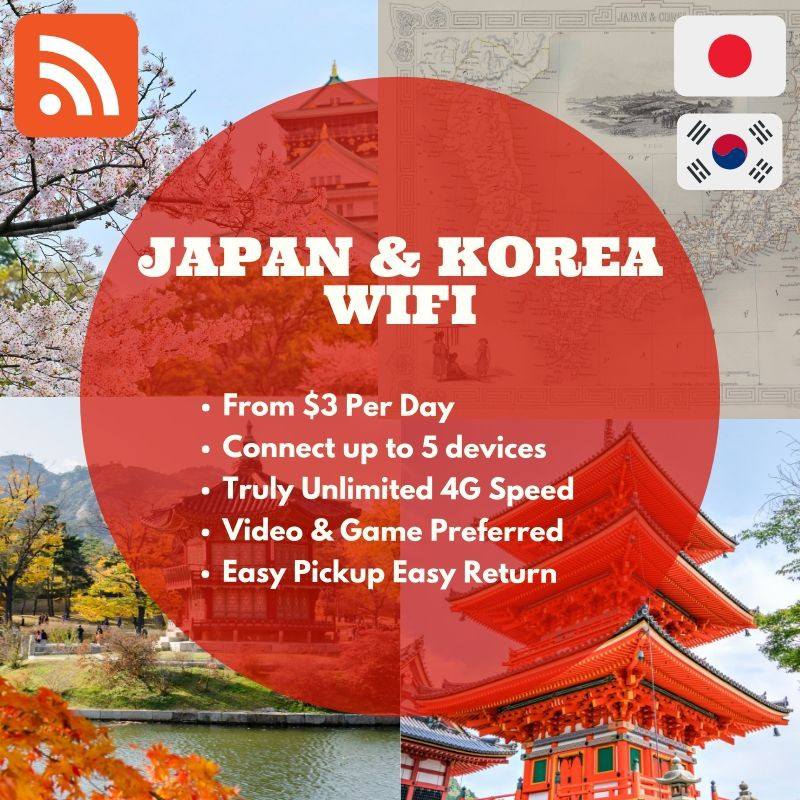 【Japan & South Korea WiFi Service 1-30 Days】Cheaper and Connivence than  Canada SIM Card Truly Unlimited 4G Data
