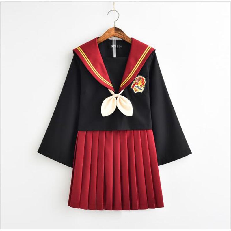 f6d47d964 Girl Harry Potter Gryffindor Cosplay JK Uniforms Pleated skirt Lolita  Dresses | Shopee Singapore