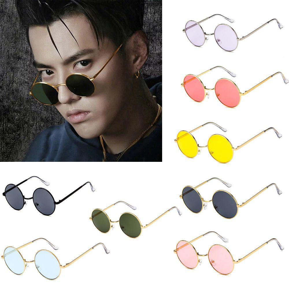 Men And Women Chic Korean Trend Fashion Glasses Sunglasses Round