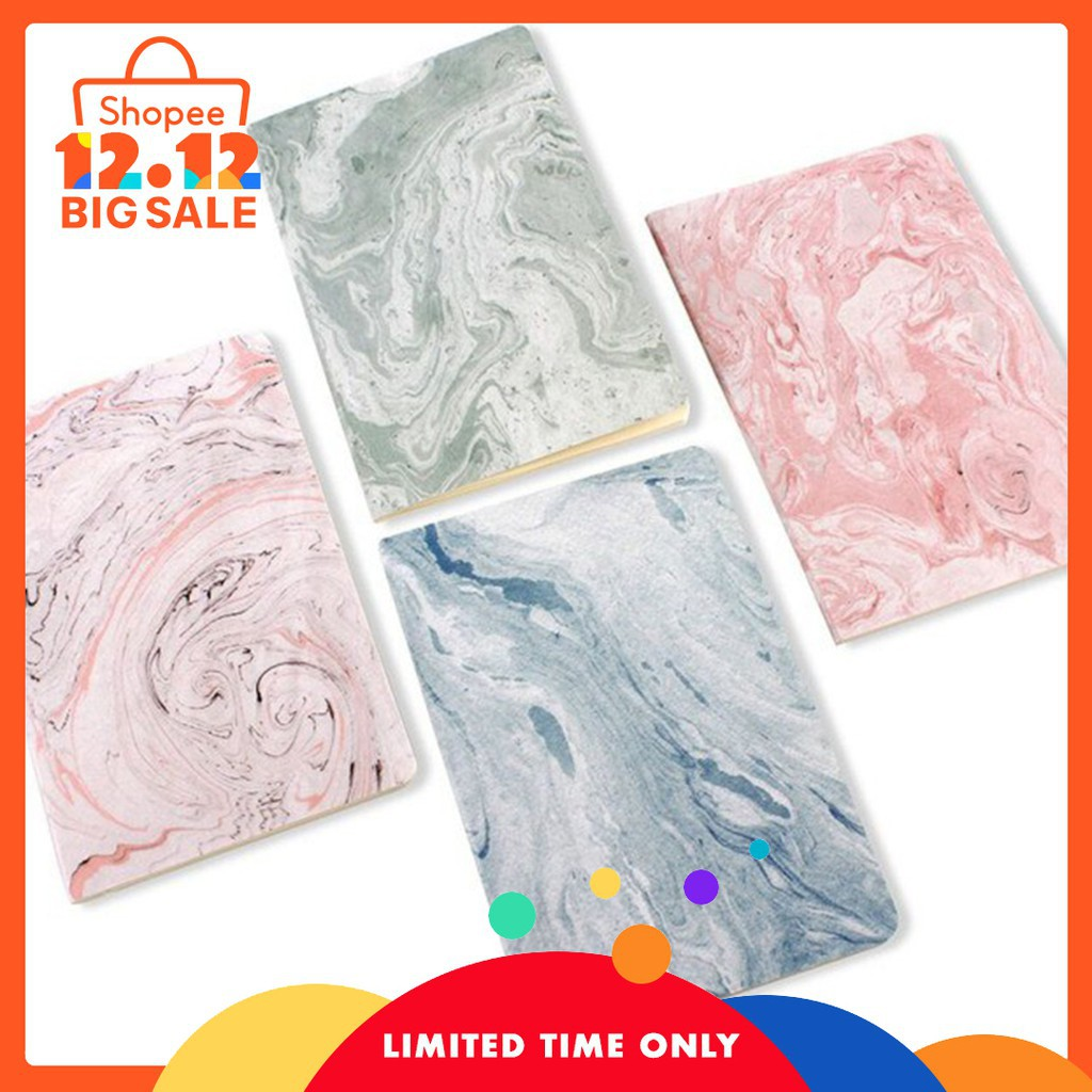 Cute Notebook Diary Marble Lines Notepad Sketch Graffiti Notebook